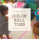 Color ball toss